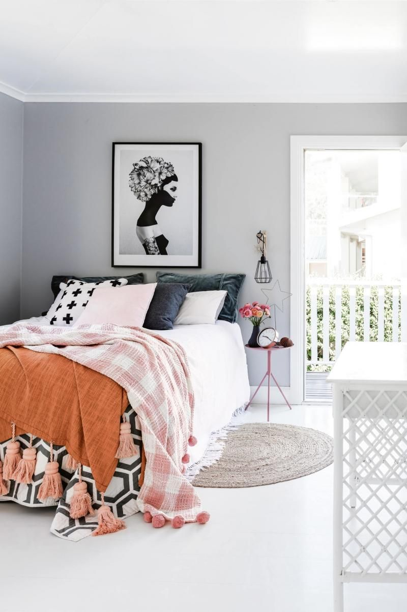 Black grey orange combo. Tassels on blanket. | Lay Me Down To Sleep ...