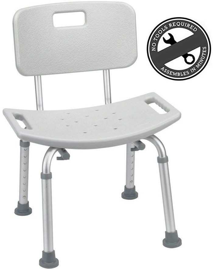 Medical Tool-Free Spa Bathtub Adjustable Shower Chair Seat Bench ...