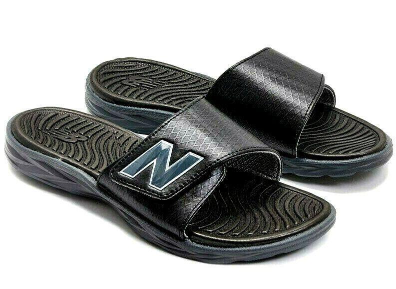 Black Mens Flip Flops Slides Slip