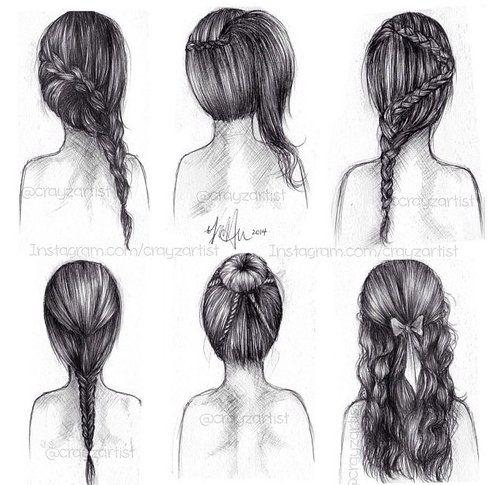 Braided Hairstyles Braided Updo Dibujo De Pelo Dibujos De Peinados Dibujar Cabello
