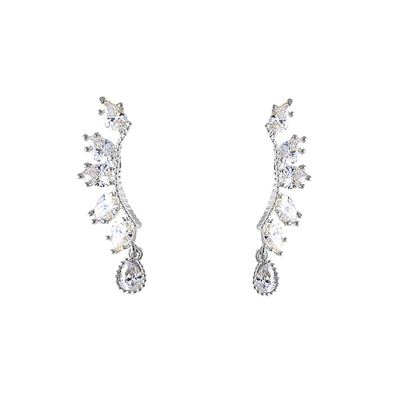 CIShop Sparkling Diamond Reverse Stud Earrings for Womens Ear Cuff