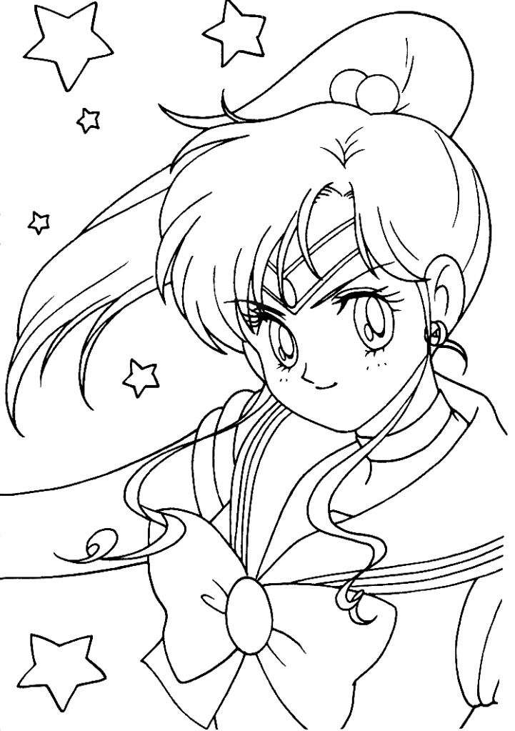Sailor Jupiter Coloring Page Moon Coloring Pages Sailor Moon