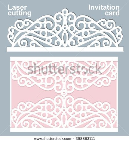 Vector die laser cut wedding card template wedding invitation card stock images royalty free images vectors stopboris Choice Image
