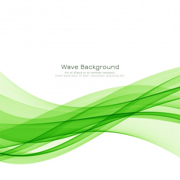 Download Abstract Green Wave Elegant Background For Free