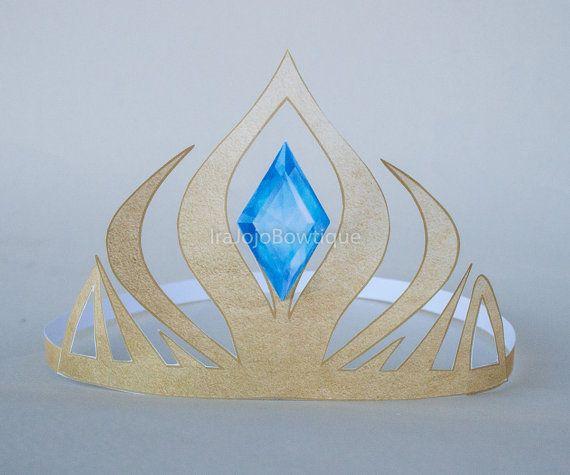 ELSA Frozen Paper Crown, Paper tiara Printable for Frozen Birthday, Frozen Birthday Party, Frozen, Box Party Crown.