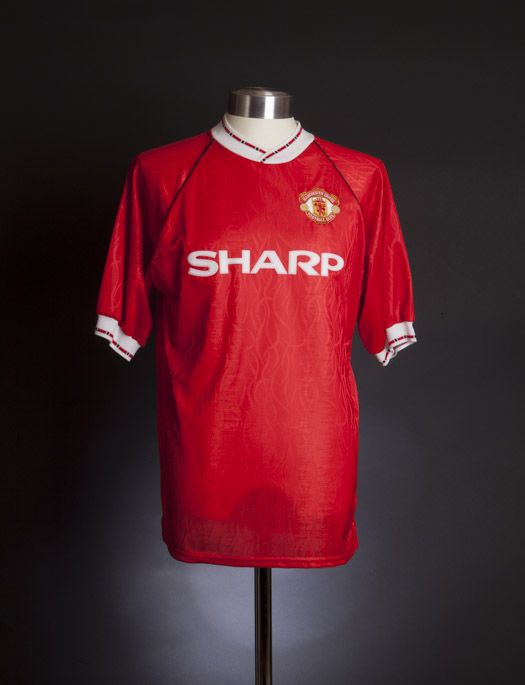 Manchester United 1991 shirt. Shirt available from camporetro.com ...