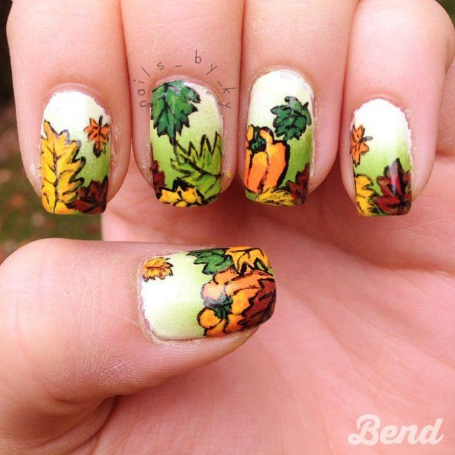Carve Out Time To Do These Pumpkin Nail Art Looks Pumpkin Nail Art