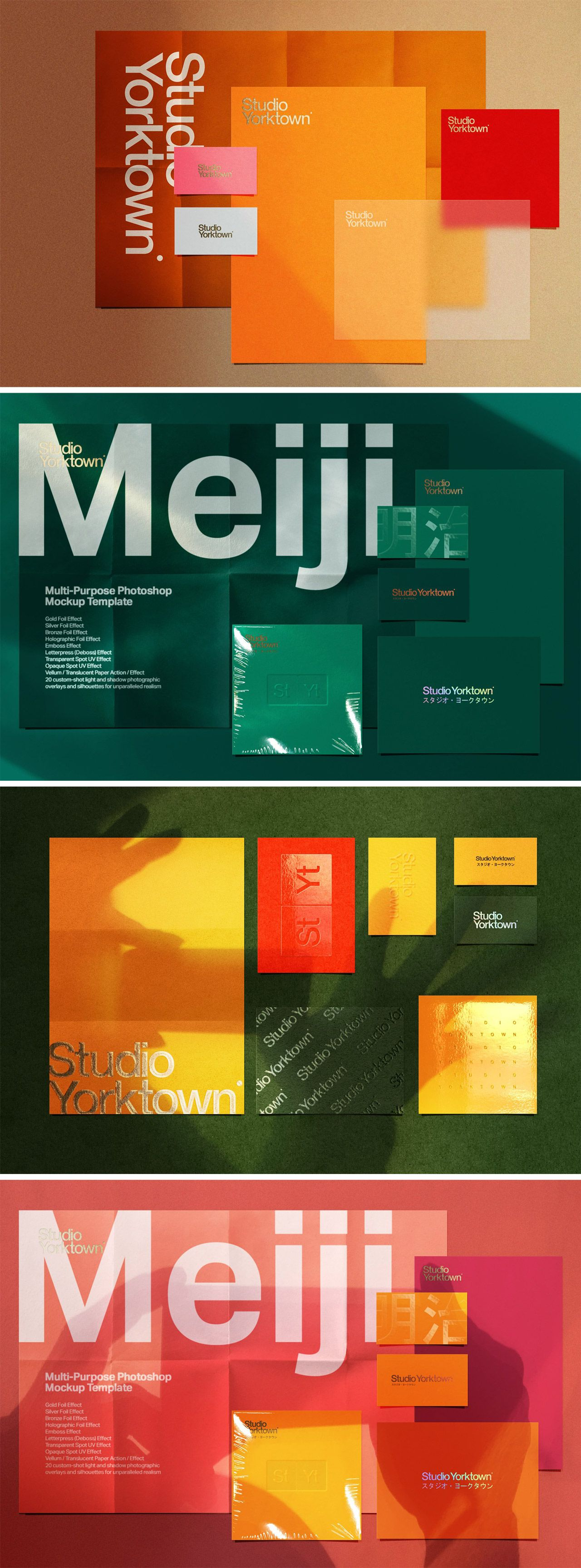 Meiji A Multi Print Effects Mockup Adobe Photoshop Templates By Studio Yorktown Book Design Layout Photoshop Template Simple Logo Design