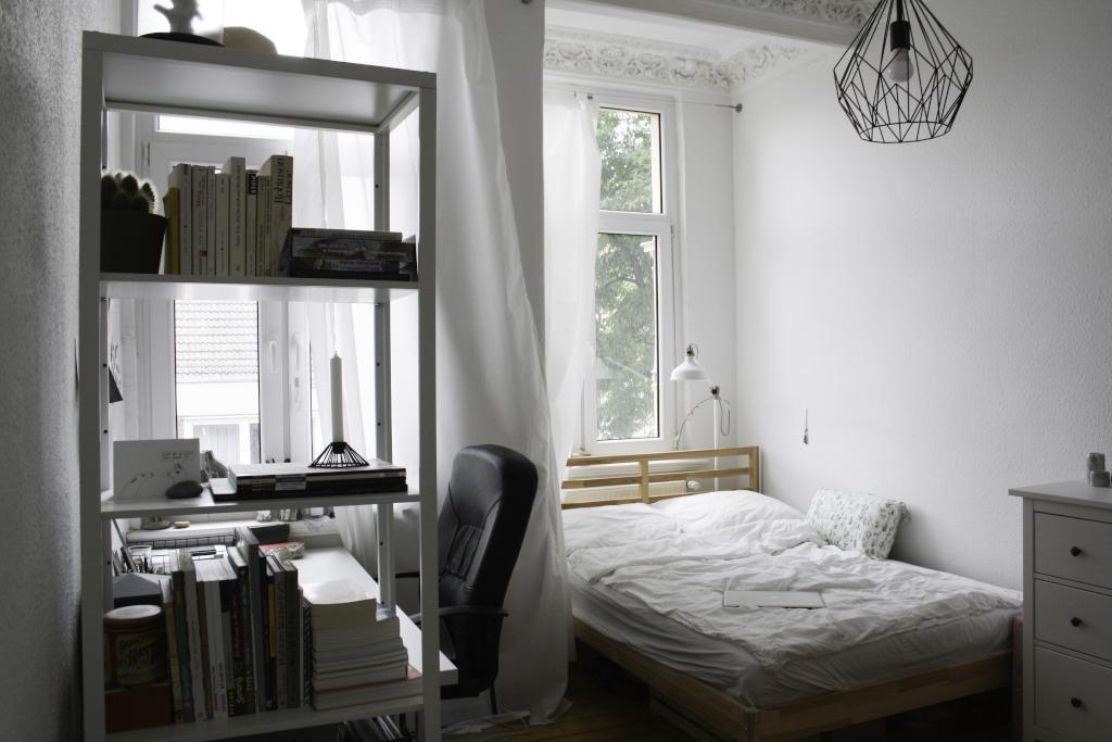 Elegant #Einrichtungsinspiration Für Kleine WG Zimmer. #wgzimmer #bett #regal Gallery