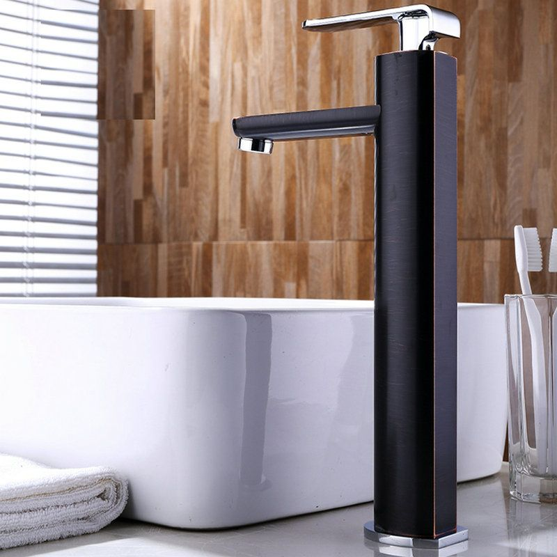 Modern Orb Basin Faucet High Square Bathroom Sink Tap Bathroom