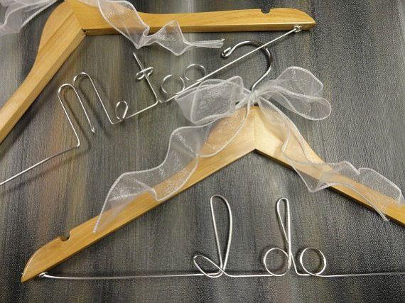 Bridal Wedding Hangers Bride Coat Hanger by OriginalBridalHanger, #WeddingDressHangers #MeTooIDoHangers, $40