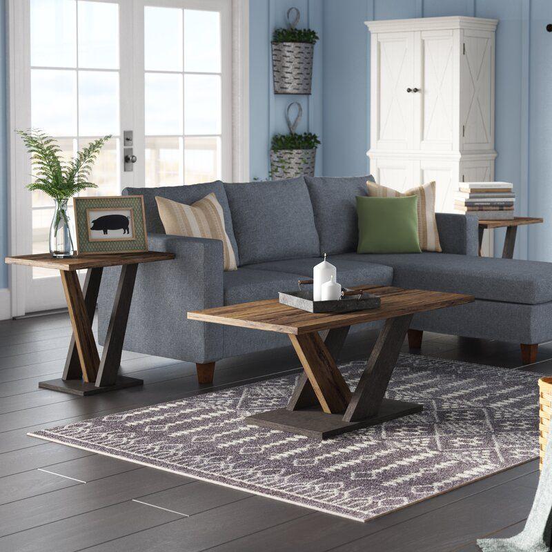Gracie Oaks Uriarte 3 Piece Coffee Table Set Reviews Wayfair