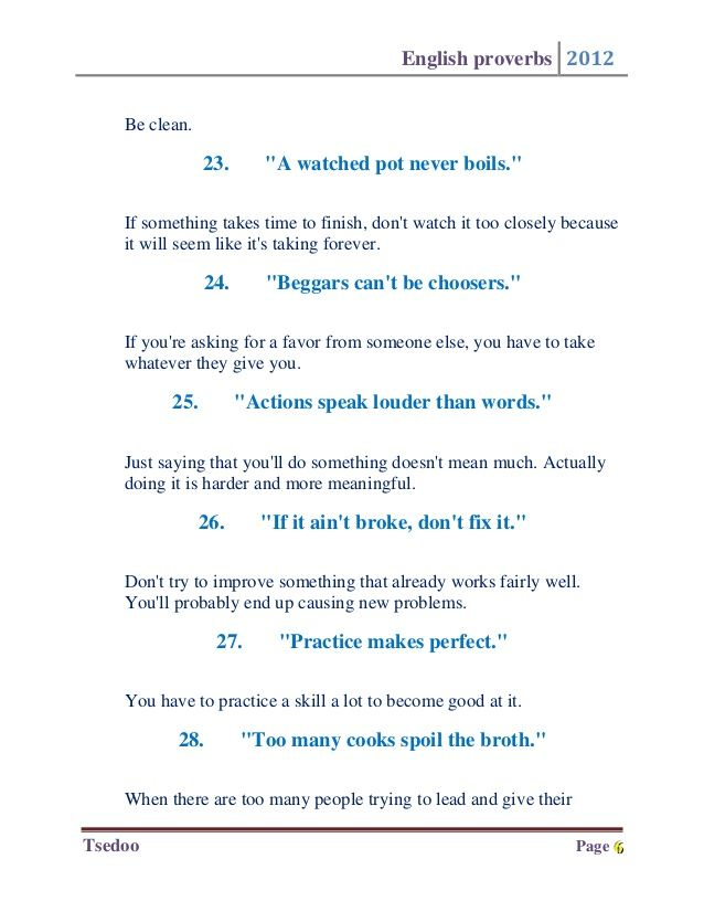 The 50 Most Important English Proverbs English Pinterest Learn