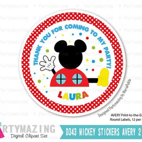 mickey printable thank you labels mickey clubhouse cupcake toppers
