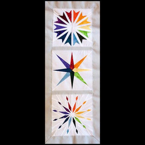 Rainbow Star - Paper Piecing - three different star patterns in one set