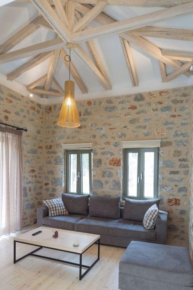 Poutre Apparente Plafond plafond poutre apparente pour apporter une touche rustique à l