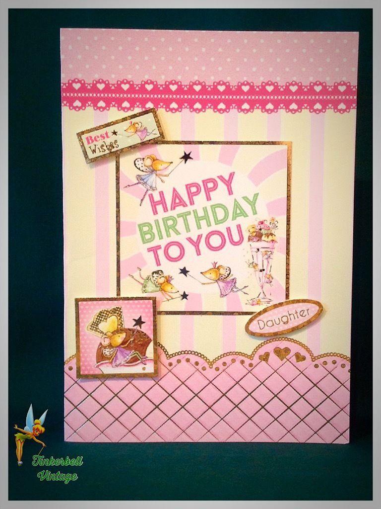 Daughter Birthday Card Handmade Greeting Card Daughter Birthday