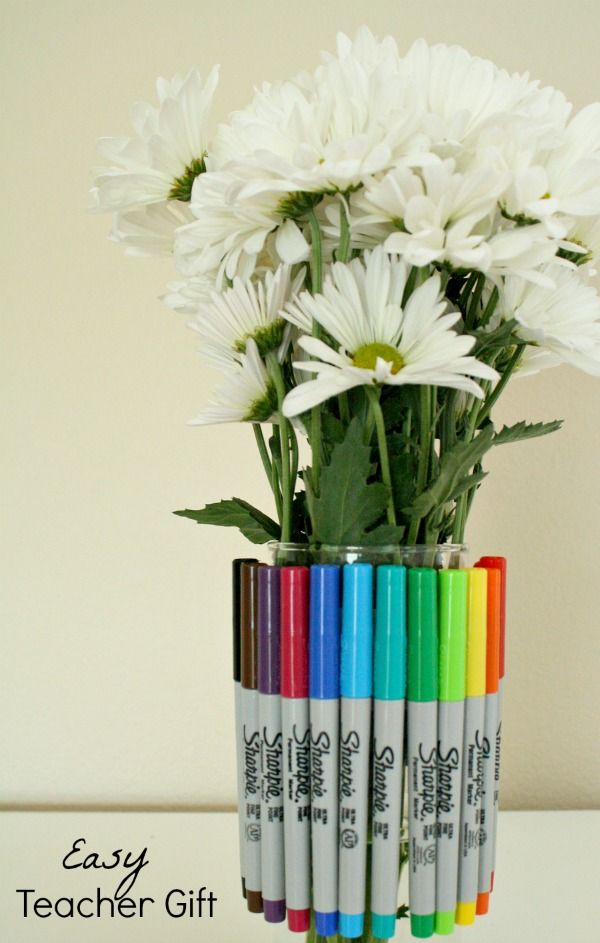 Sharpie Bouquet Teacher Gift | Geschenke für Lehrer | Pinterest ...