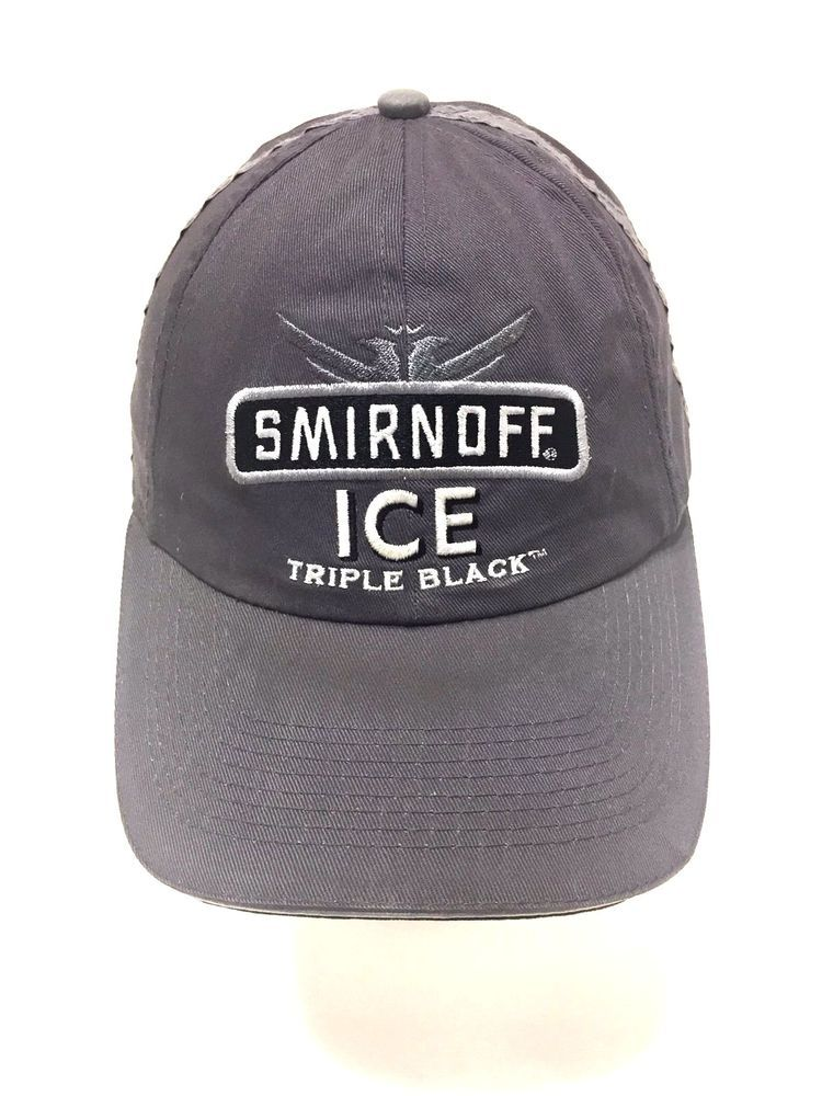 82d1e05f230 Smirnoff Ice Triple Black Gray Matt Kenseth  17 NASCAR Baseball Hat Cap Adj   TeamCaliber