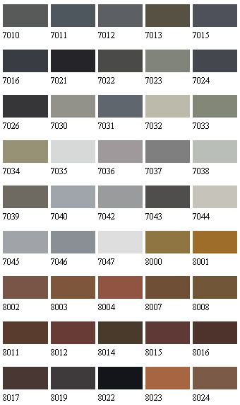 RAL Colours Ral colours Pinterest Ral colours - sample html color code chart