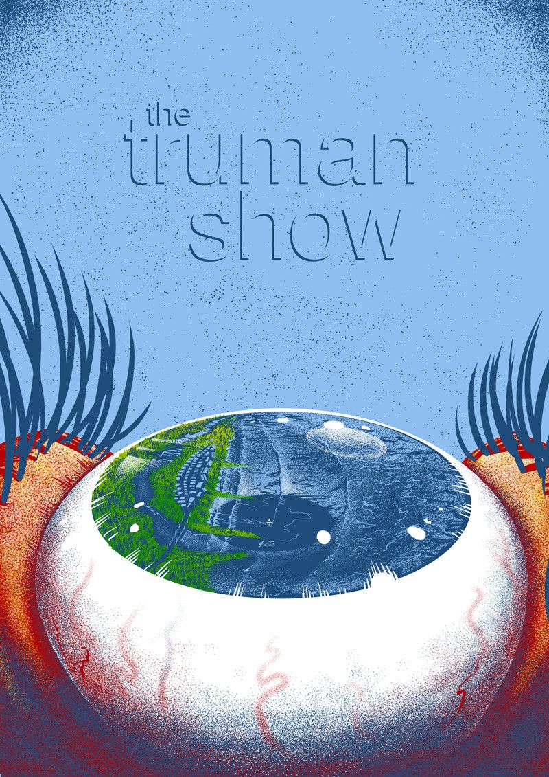 The Truman Show Alternative Movie Posters Famous Movie Posters