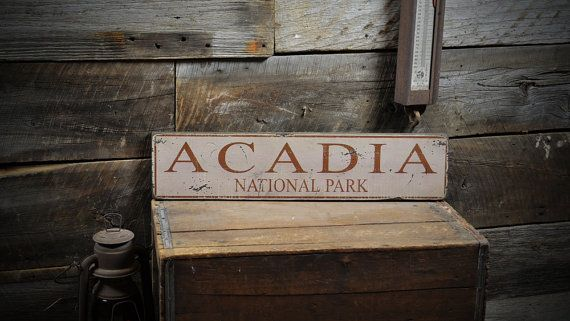Rustic Hand Made Vintage Wooden Sign Personalized State Park Sign