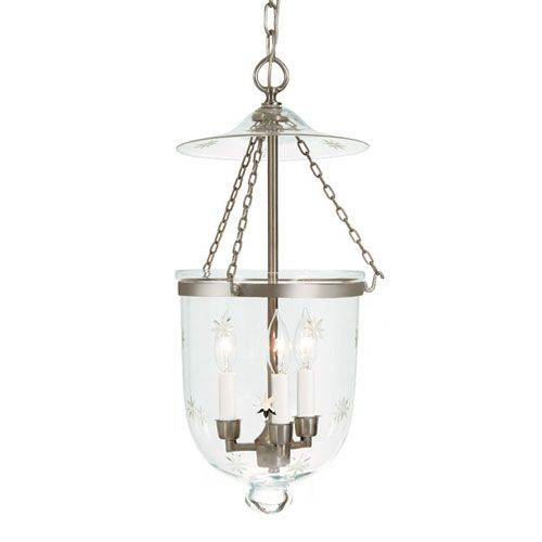 Jvi Designs Medium Pewter Three Light Hanging Bell Pendant