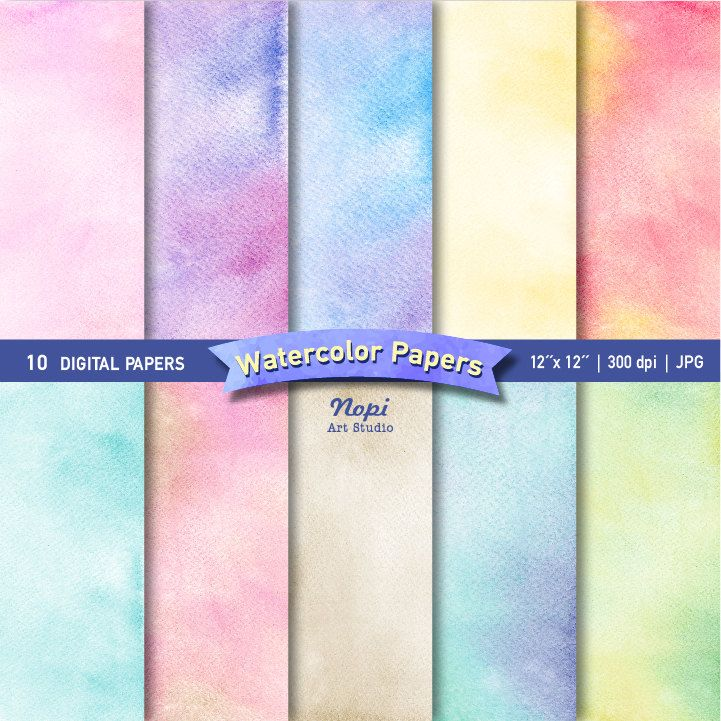 Watercolor Wrapping Paper Background Paper Set Abstract