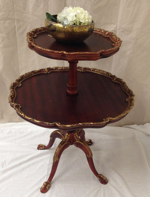 Butler Tea Table Antique Side Table Pie Crust Table