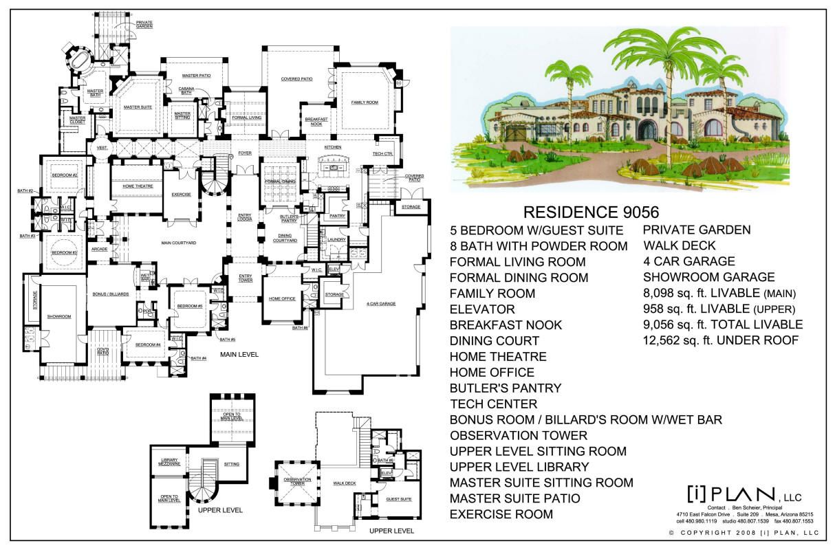 Luxury Home Design By I Plan Llc 9 056 Square Feet Architectural Floor Plans House Plans Mansion Mansion Floor Plan