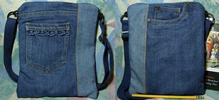 Objets déco vêtements аccessoires jeans recyclé en 22 idées