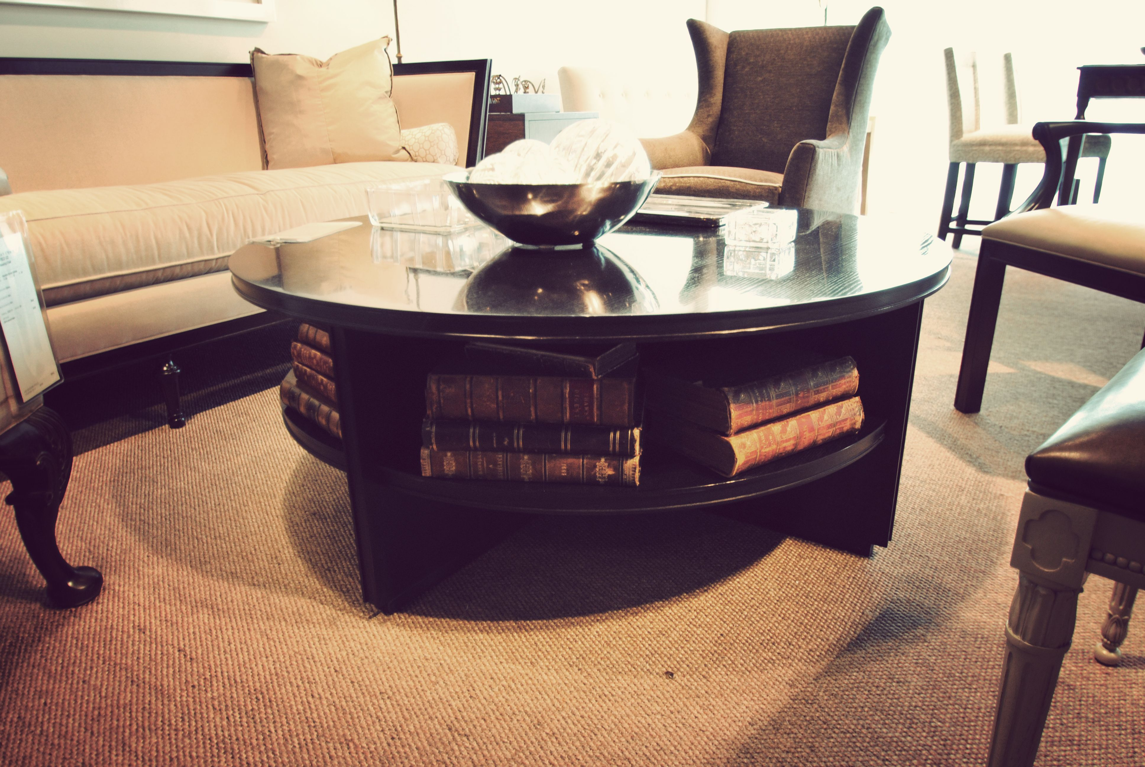 Round Coffee Table With Storage Coffee Table Sun Room Decor Coffee Table Design [ 2592 x 3872 Pixel ]