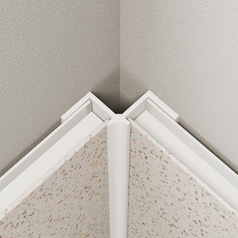 multipanel economy type v white internal corner profile on shower wall panels id=49155