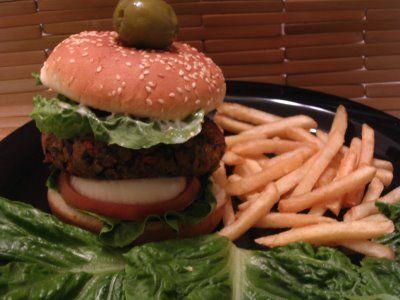 tvp veggie burger