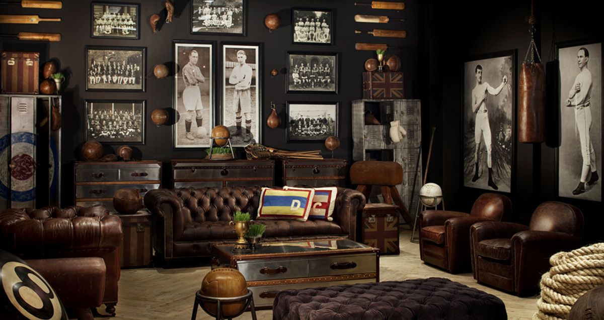 Dark and Moody. Timothy Oulton Showroom