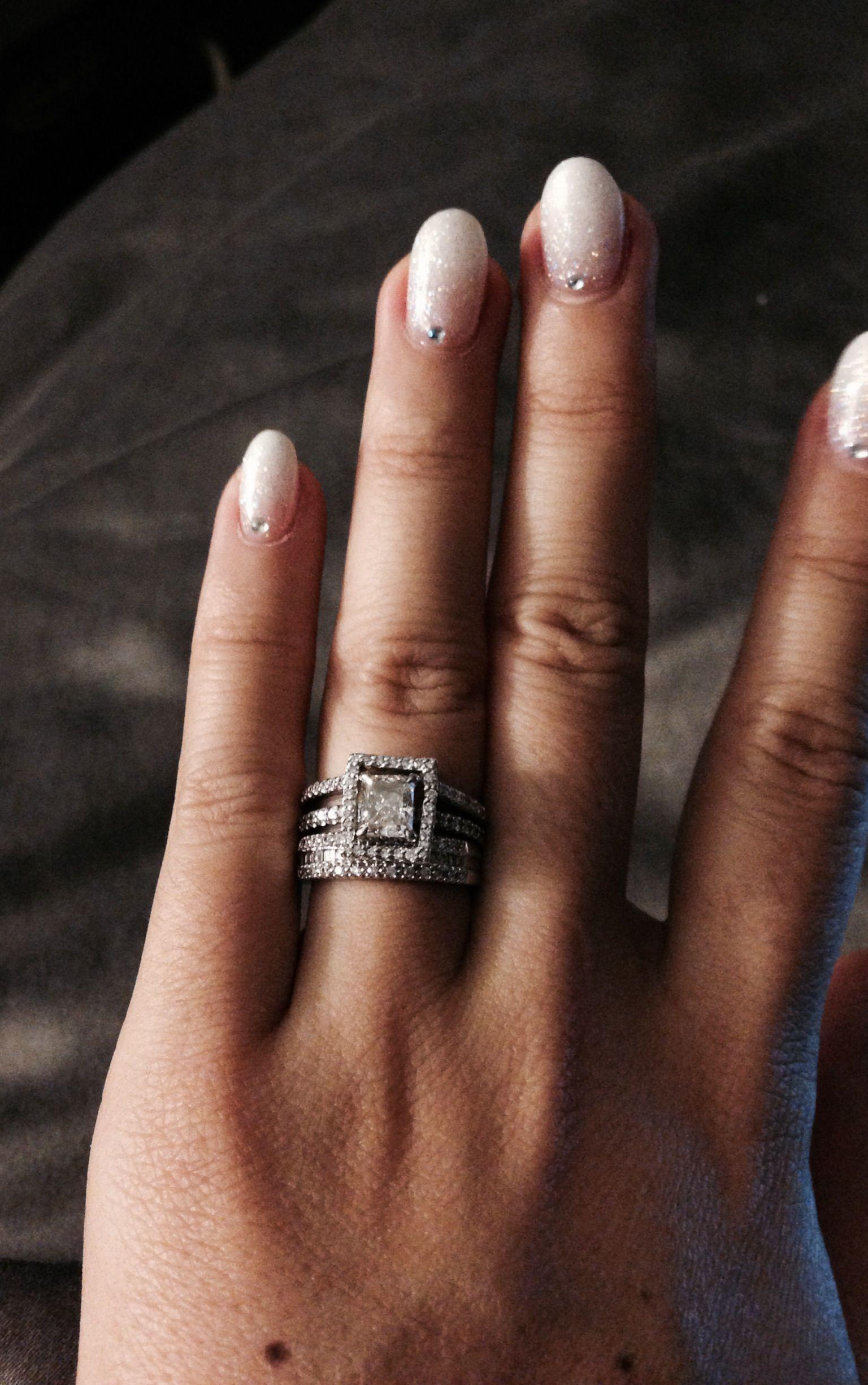 wedding ring guard Wedding ring with halo ring guard