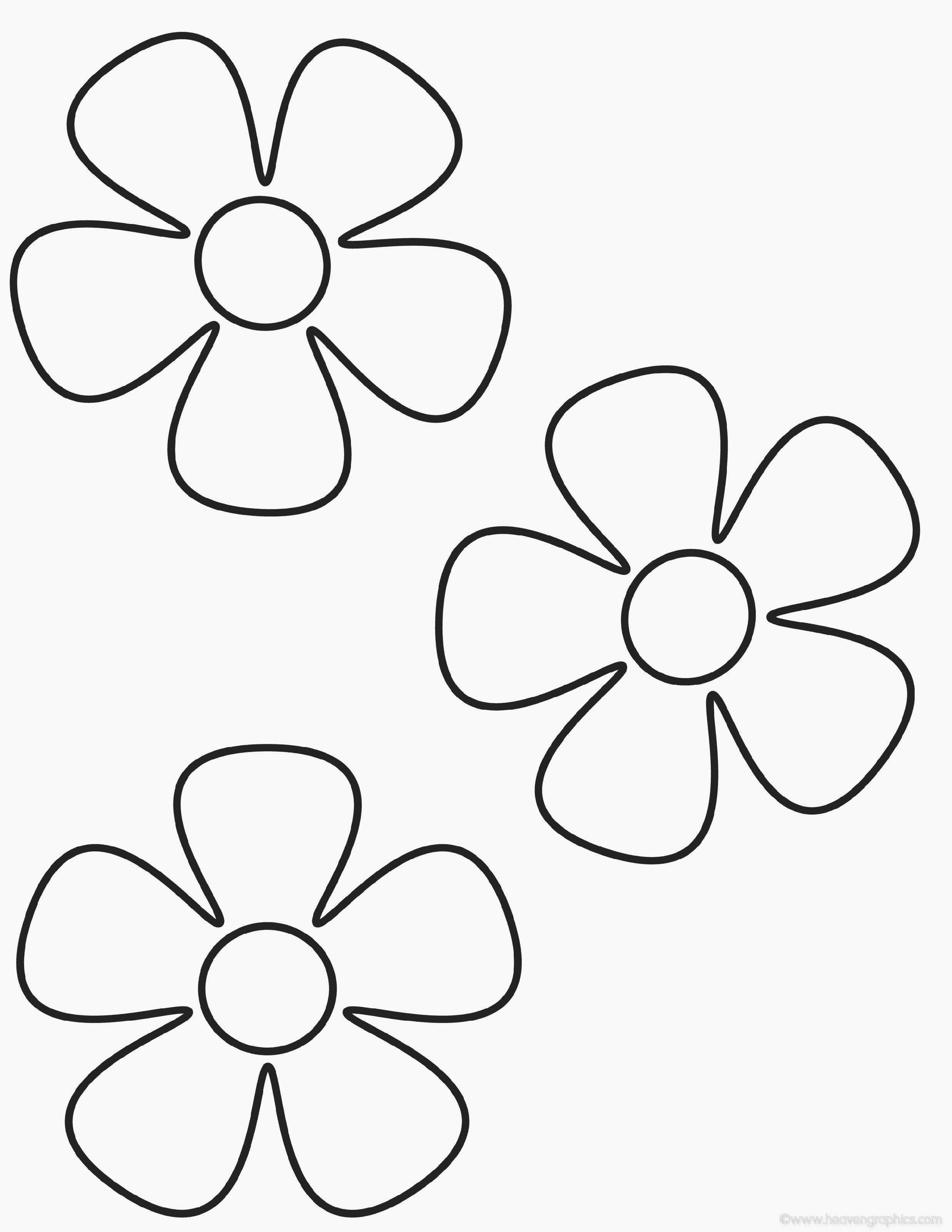 Daisy Flower Coloring Page Free Printable - Sea4Waterman | Paper ...