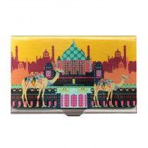Indian Caravan Serai Steel Card Holder by The Elephant Company