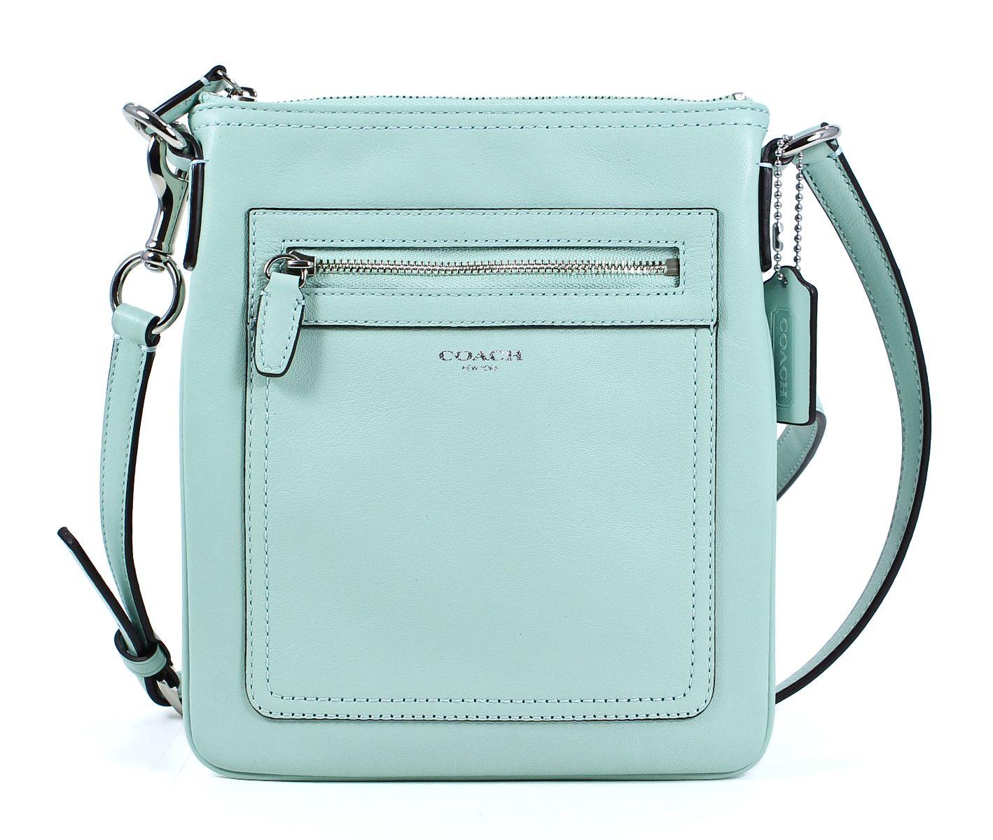 Coach Legacy Leather Swingpack Mint Green Crossbody Shoulder Bag ...