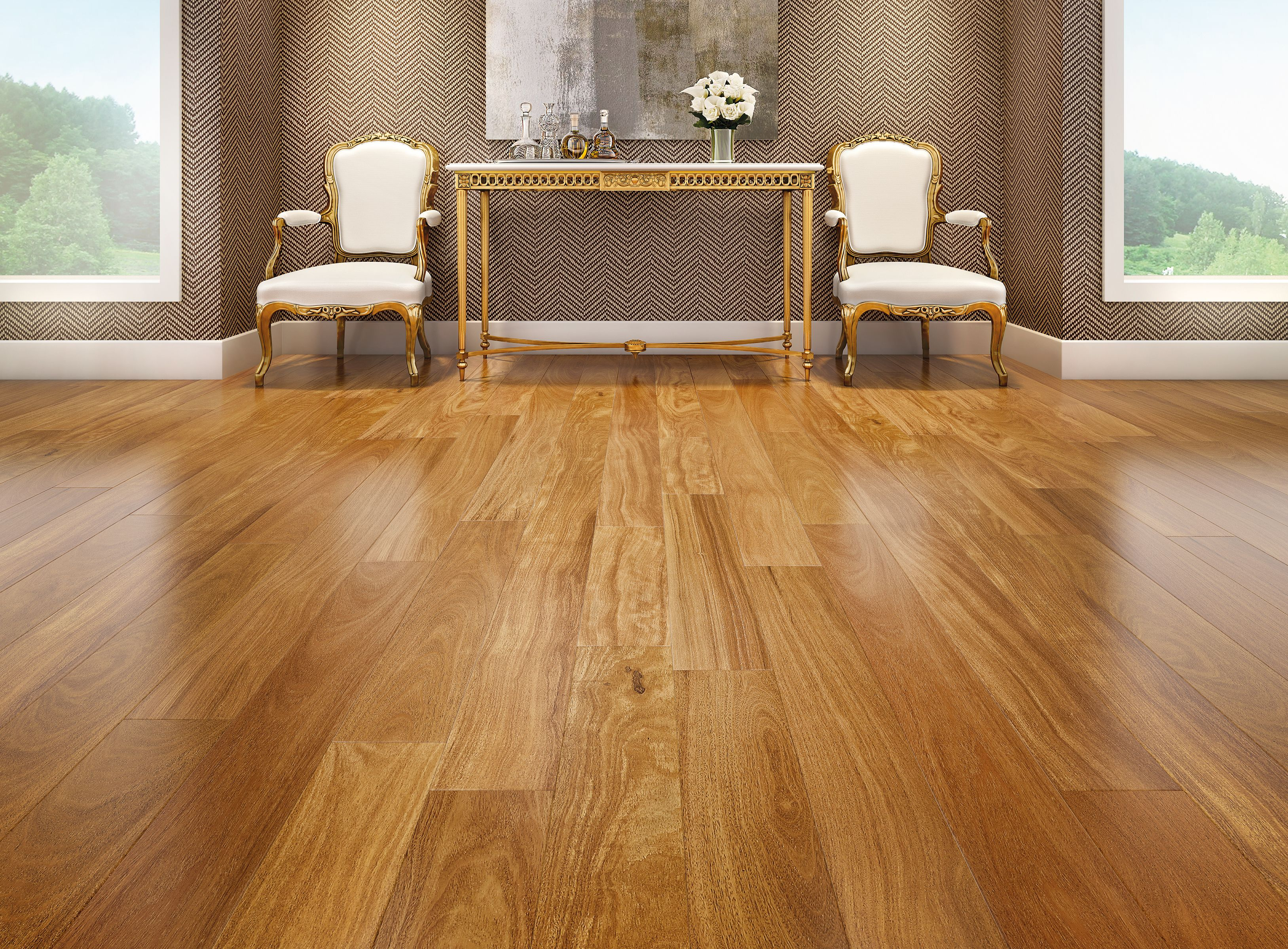 Brazilian Teak Smooth Engineered Hardwood Teak Flooring