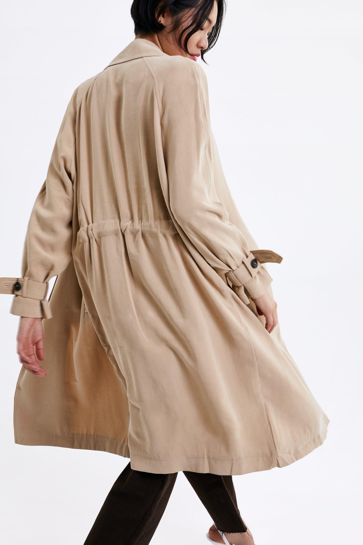 5e60ca5d37 Flowy trench coat with pockets in 2019 | Women - BEIGE/ORANGE | Coat ...