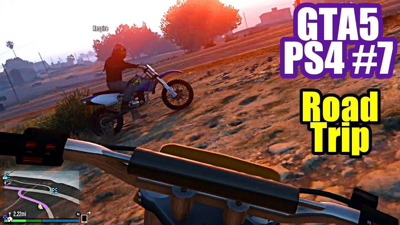 Gta5 Ps4 Gameplay 7 First Person Road Trip Motion Sickness 2x Back Trip Road Trip Adventure