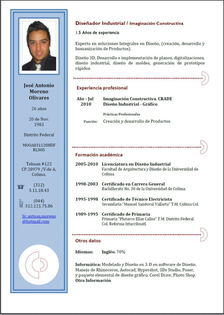 formatos cv word - Etame.mibawa.co