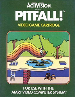 The crocodiles were always so hard and scary! I remember where I was when I bought this. It was Christmas Eve, I was in Tahlequah Oklahoma where my grandfolks lived. The game had just came out a couple months prior (Sept. 1982). I seem to remember the game retailed for like 35 bucks, which was a lot to a 10 year old. One of the best video games of all time.