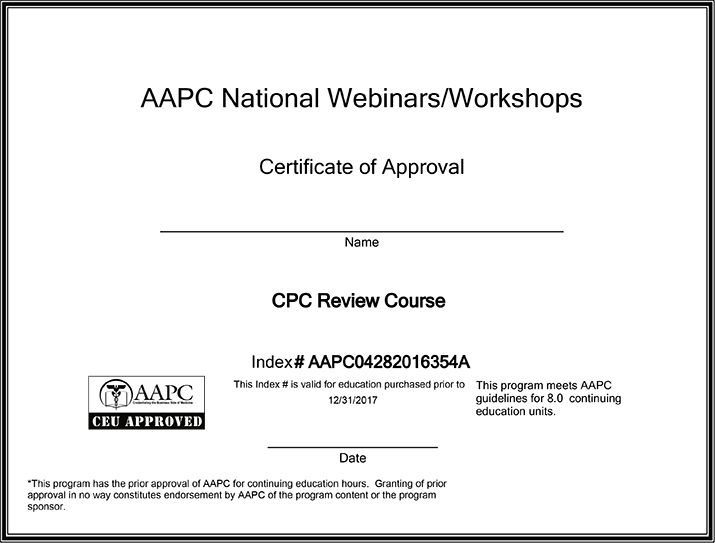CPC Online Exam Review Course | aapc | Pinterest | Exam review