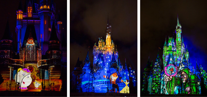Once Upon a Time Projection Show at the Magic Kingdom