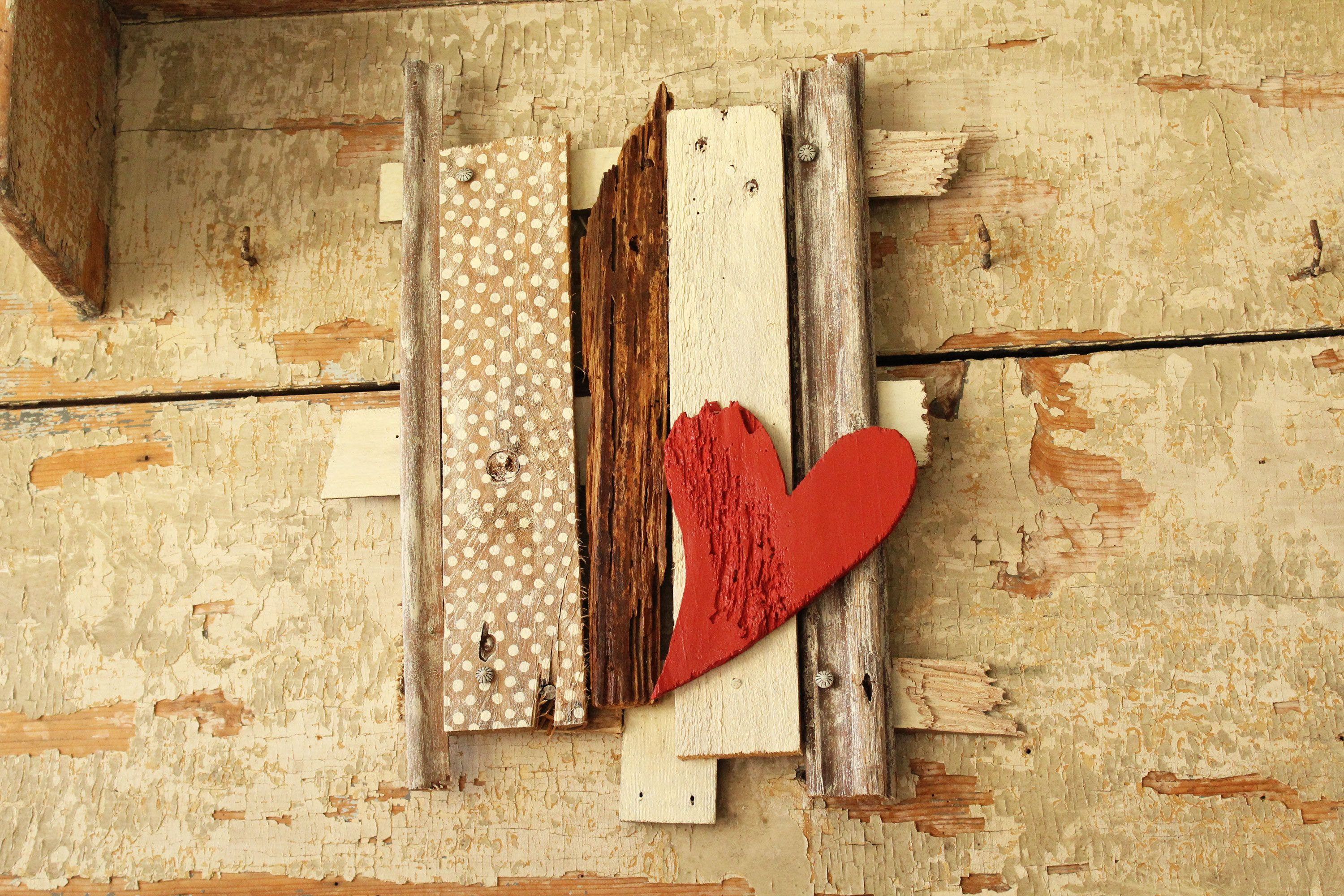 Unique Wooden Heart Wall Decoration Gallery - Wall Art Collections ...