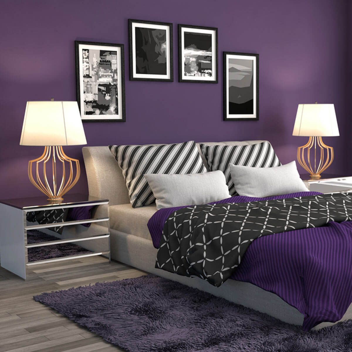 100 Bedroom Decorating Ideas Designs: 10 Ideas For Using Pantone's Ultra-Violet 2018 Color Of