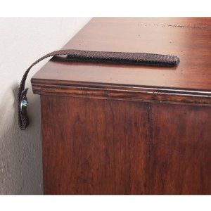 Safety straps for furniture. Just read a blog about a toddler who was caught under a dresser. Very scary. Good to know how to secure furniture