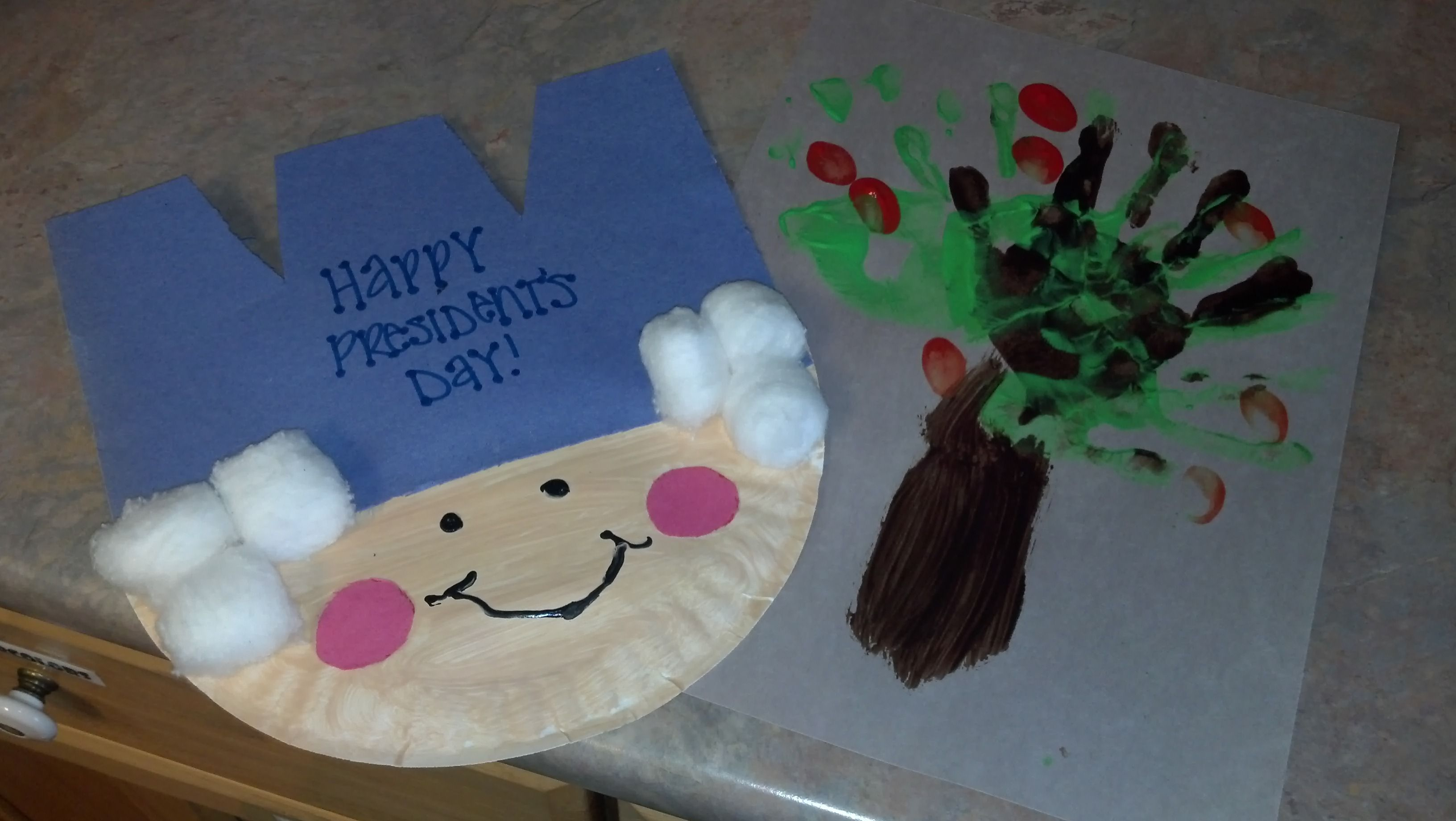 President S Day George Washington Paper Plate Craft And